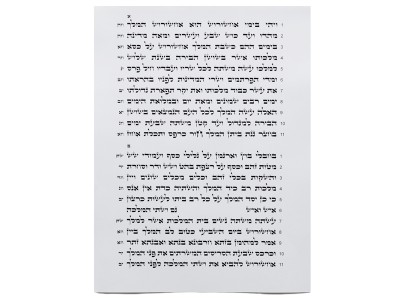 Tikun Sofrim, Megillah (11 Lines)