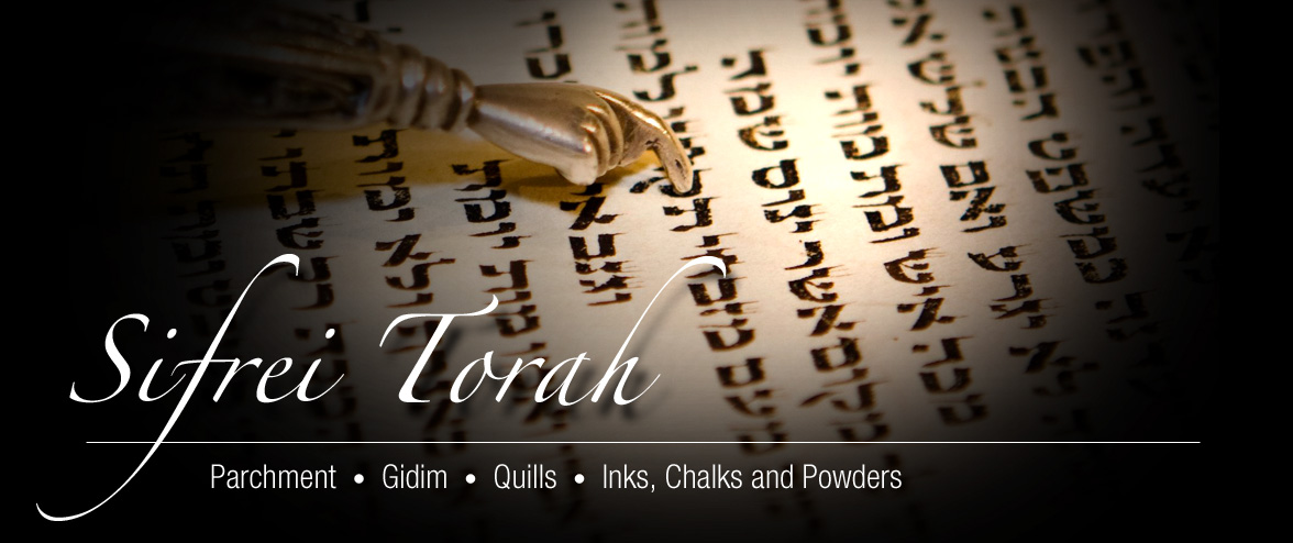 All supplies for writing sifrei torah are available, like parchments, inks and quills.